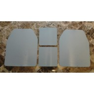Curved10x12 & 6x6 Level3 Powdercoated Mil-Spec Certified Armor Plate