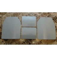 Curved 10x12 & 6x8 Level 3 Powdercoat Mil-Spec Certified Armor Plate