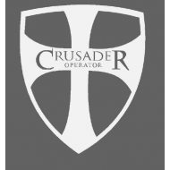 "Crusader Shield 12"" window decal"